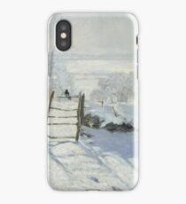Magpie in the Snow iPhone Case/Skin