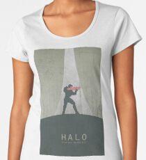 Halo Master Chief Game Poster Women's Premium T-Shirt