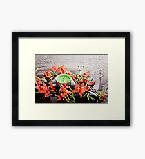 Fresh - Green And Orange Framed Print