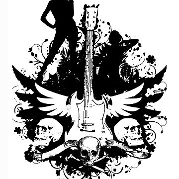 Girls, Skulls, and Guitars by gibimich