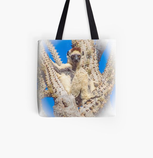 Living in the spiny forest All Over Print Tote Bag
