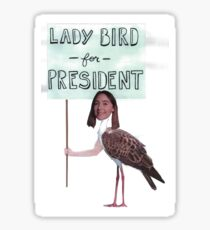 ladybird for president Sticker