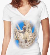 Living in the spiny forest Women's Fitted V-Neck T-Shirt