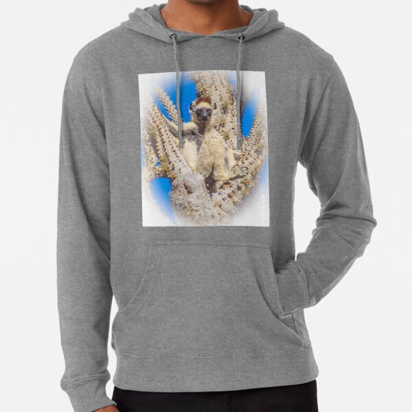 Living in the spiny forest Lightweight Hoodie