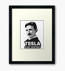 Tesla is my Ohm Boy Framed Print
