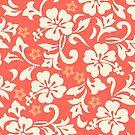 Kapalua Pareau Hawaiian Hibiscus - Coral by DriveIndustries
