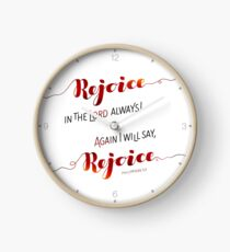 Rejoice In the Lord Always! Clock