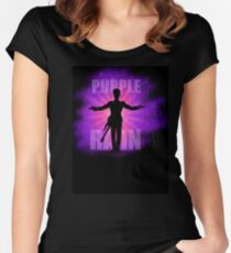 Prince In Purple Rain Women's Fitted Scoop T-Shirt