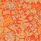 Kauai Morning Hawaiian Protea Floral - Papaya by DriveIndustries