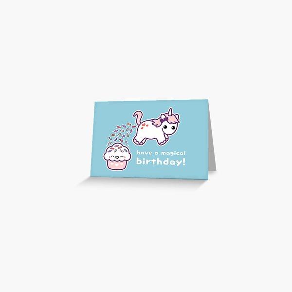 Pooping Unicorn Birthday Greeting Card