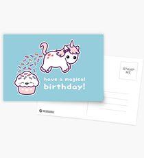 Pooping Unicorn Birthday Postcards