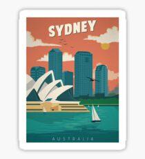 Vintage Travel Poster - Sydney, Australia Sticker