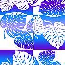 Makua Monstera Tropical Hawaiian Striped Blend  - Purple by DriveIndustries