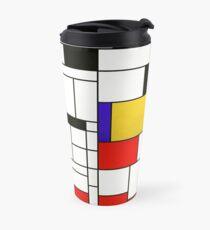Mondrian Style Abstract Art Travel Mug