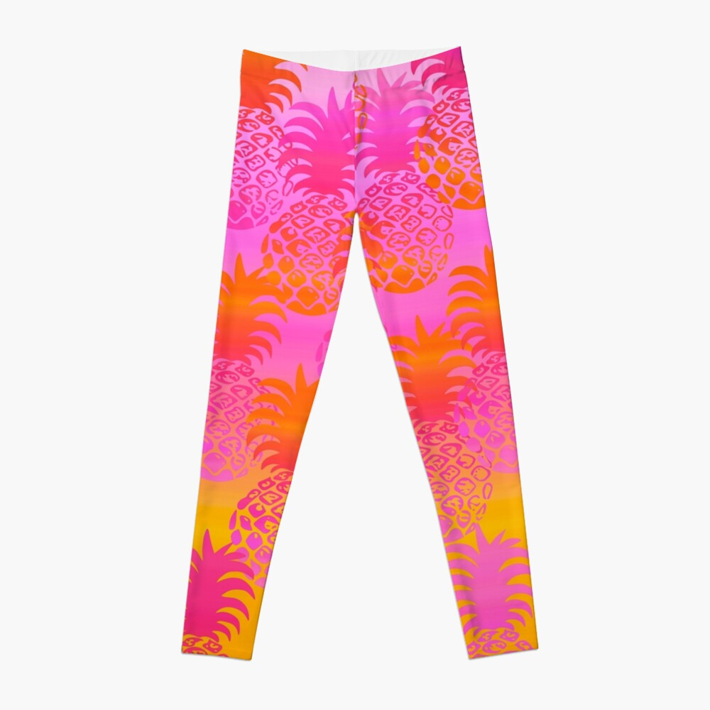 Pukana Hawaiian Pineapple Sunset Blend - Pink & Orange Leggings