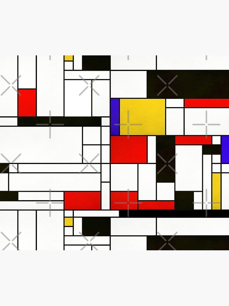 Mondrian Style Abstract Art by BluePlanet