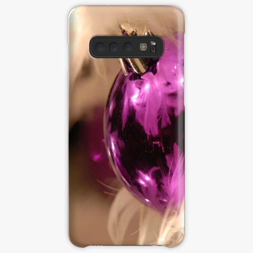 Purple & White Case & Skin for Samsung Galaxy