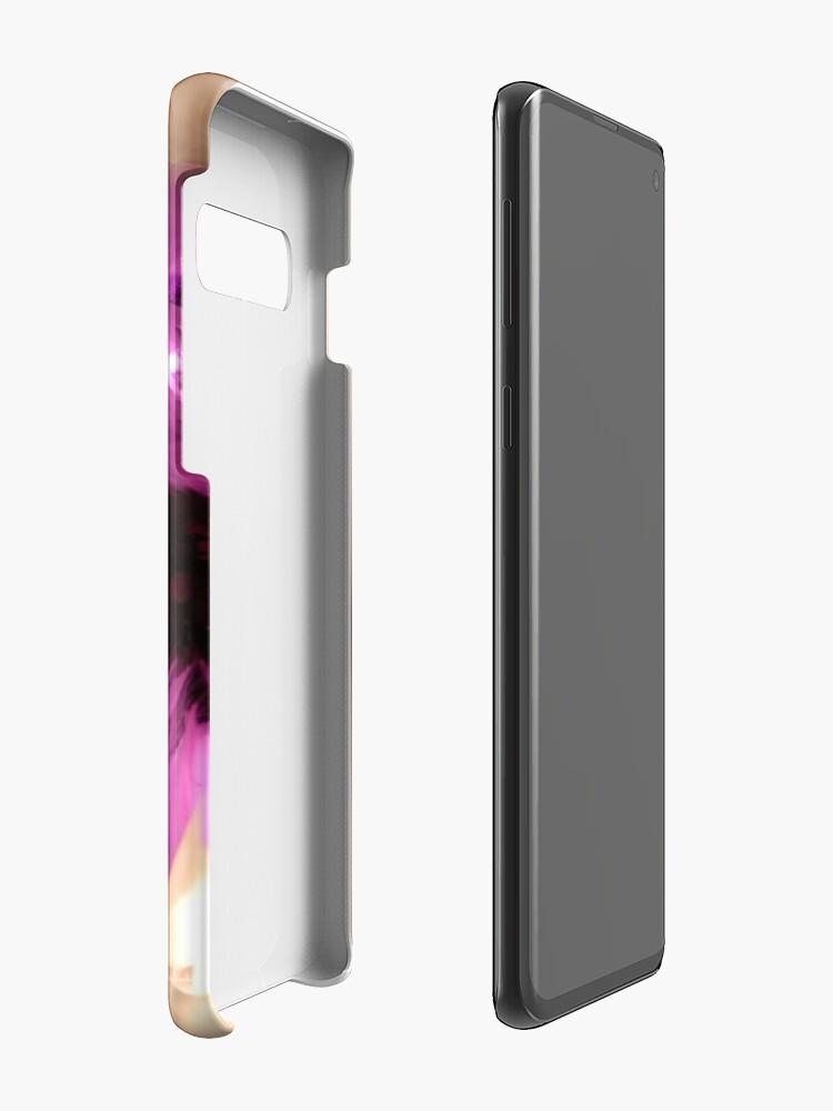Alternate view of Purple & White Case & Skin for Samsung Galaxy
