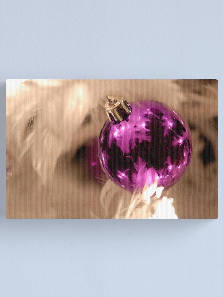 Alternate view of Purple & White Canvas Print