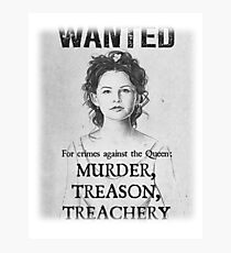 OUAT Snow White Wanted Poster Photographic Print