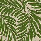 Kahanu Palms Hawaiian Linen Texture - Olive Green by DriveIndustries
