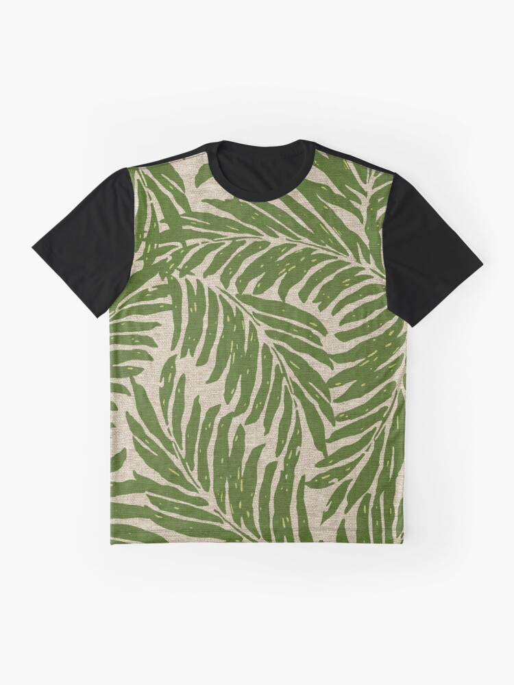 a1710c10e9a Alternate view of Kahanu Palms Hawaiian Linen Texture - Olive Green Graphic  T-Shirt