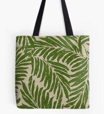 Kahanu Palms Hawaiian Linen Texture - Olive Green Tote Bag