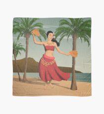 Hawaiian Vintage Hula Girl Distressed Postcard Scarf
