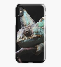 Eboshi chameleon on a branch iPhone Case
