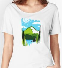 Sunny Mountainscape Women's Relaxed Fit T-Shirt