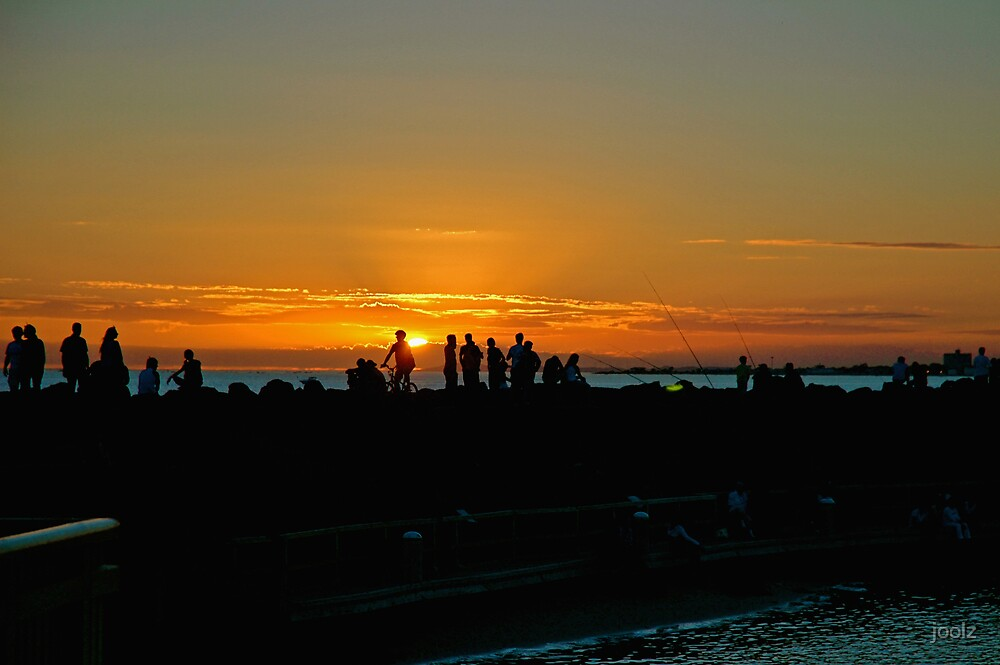 Sunset on St Kilda Pier  by joolz