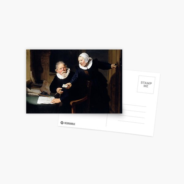 The Shipbuilder and his Wife por Rembrandt Postal