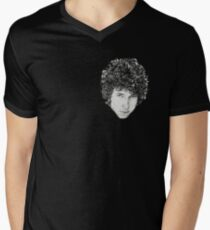 Dylan Classic Folk Rock Singer Musician Black and White Face Portrait T-Shirt