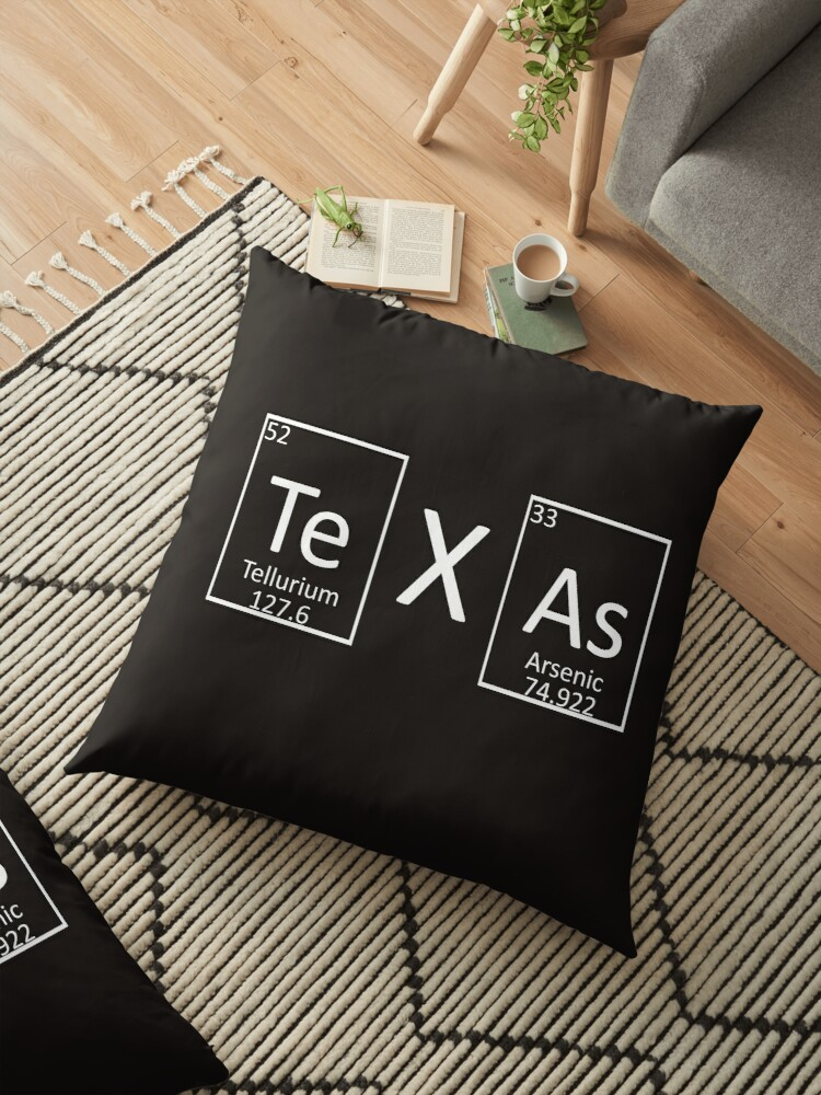 Texas Periodic Table Of Elements Chemistry Lovers Floor Pillows By