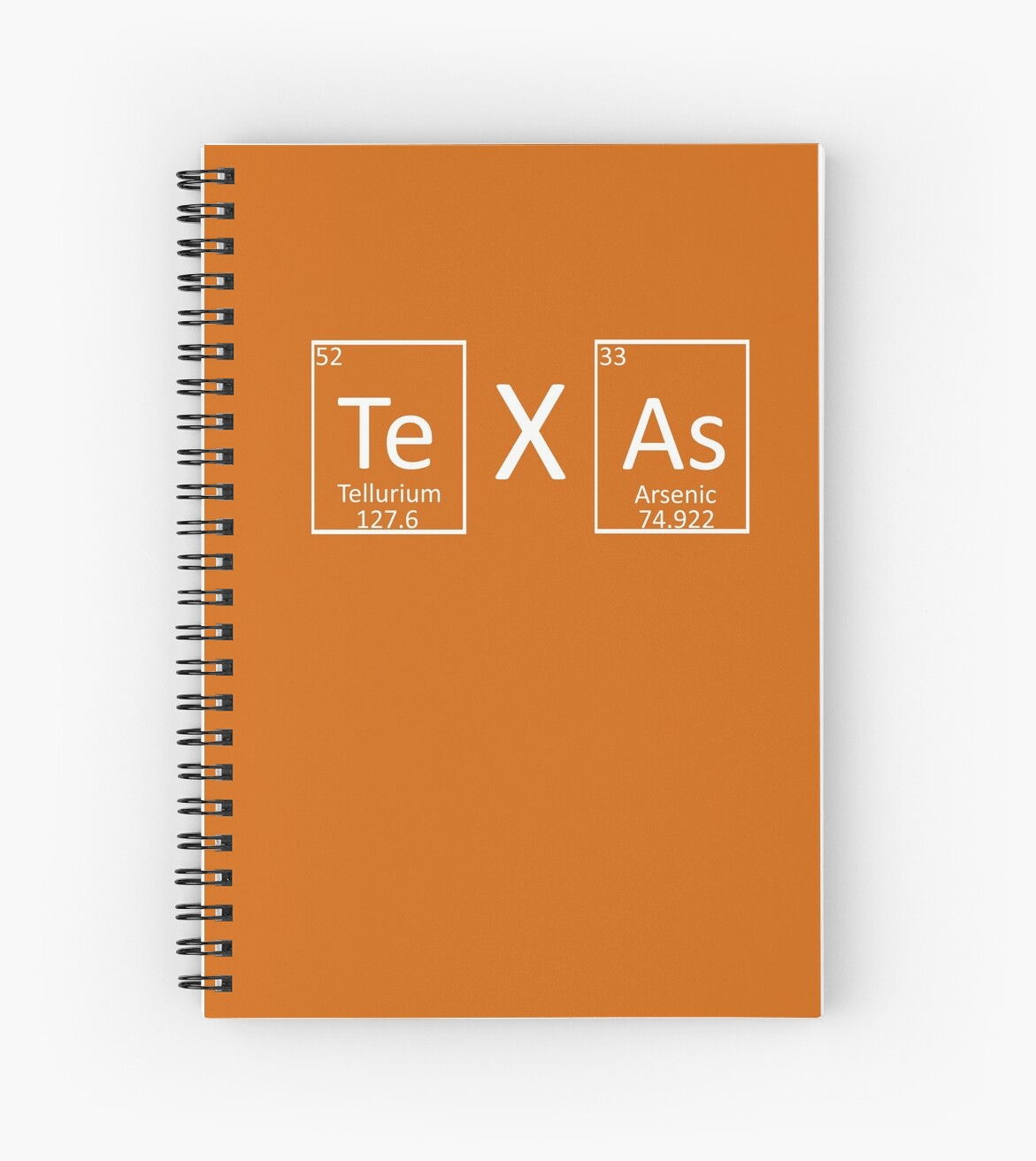 Texas Periodic Table Of Elements Chemistry Lovers Spiral Notebooks