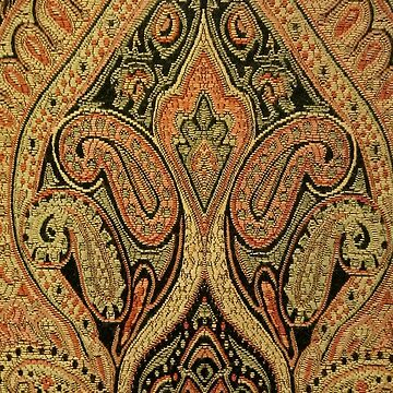 Tapestry Damask Gold by brodrickmade