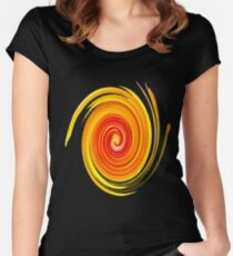 Swirl Long Sleeve Women's Fitted Scoop T-Shirt