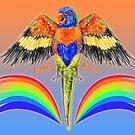 Lorikeet Lover - Australian Rainbow Lorikeet by SmileDial