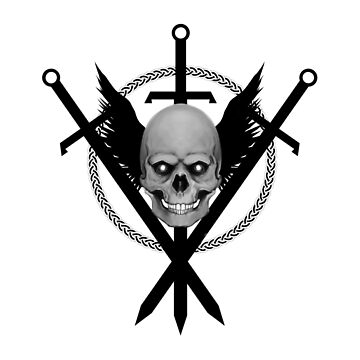 Skull and Swords II by Kuauh