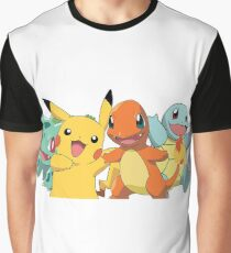 Pokemon starters and pikachu Graphic T-Shirt
