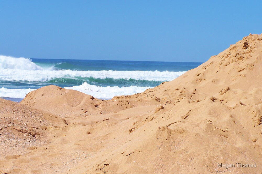 The blue & the sand dune by Megan Thomas