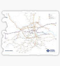 TFL New tube map Sticker