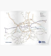 TFL New tube map Poster