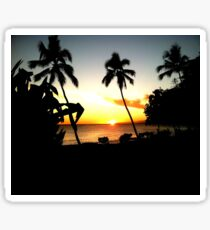 Palm Tree Sunset Sticker