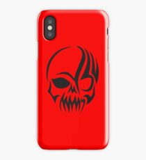 Tribal Skull Silhouette iPhone Case/Skin