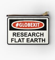 CLASSIC DANGER SIGN RESEARCH FLAT EARTH Studio Pouch