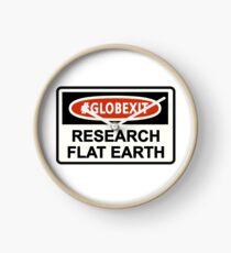 CLASSIC DANGER SIGN RESEARCH FLAT EARTH Clock