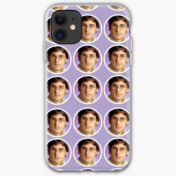 Louis Theroux - Purple Face Pattern iPhone Soft Case