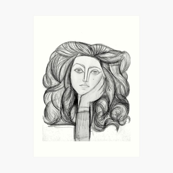 FRANCOISE 1946 : Vintage Abstract Charcoal Print Art Print