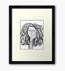 FRANCOISE 1946 : Vintage Abstract Charcoal Print Framed Print
